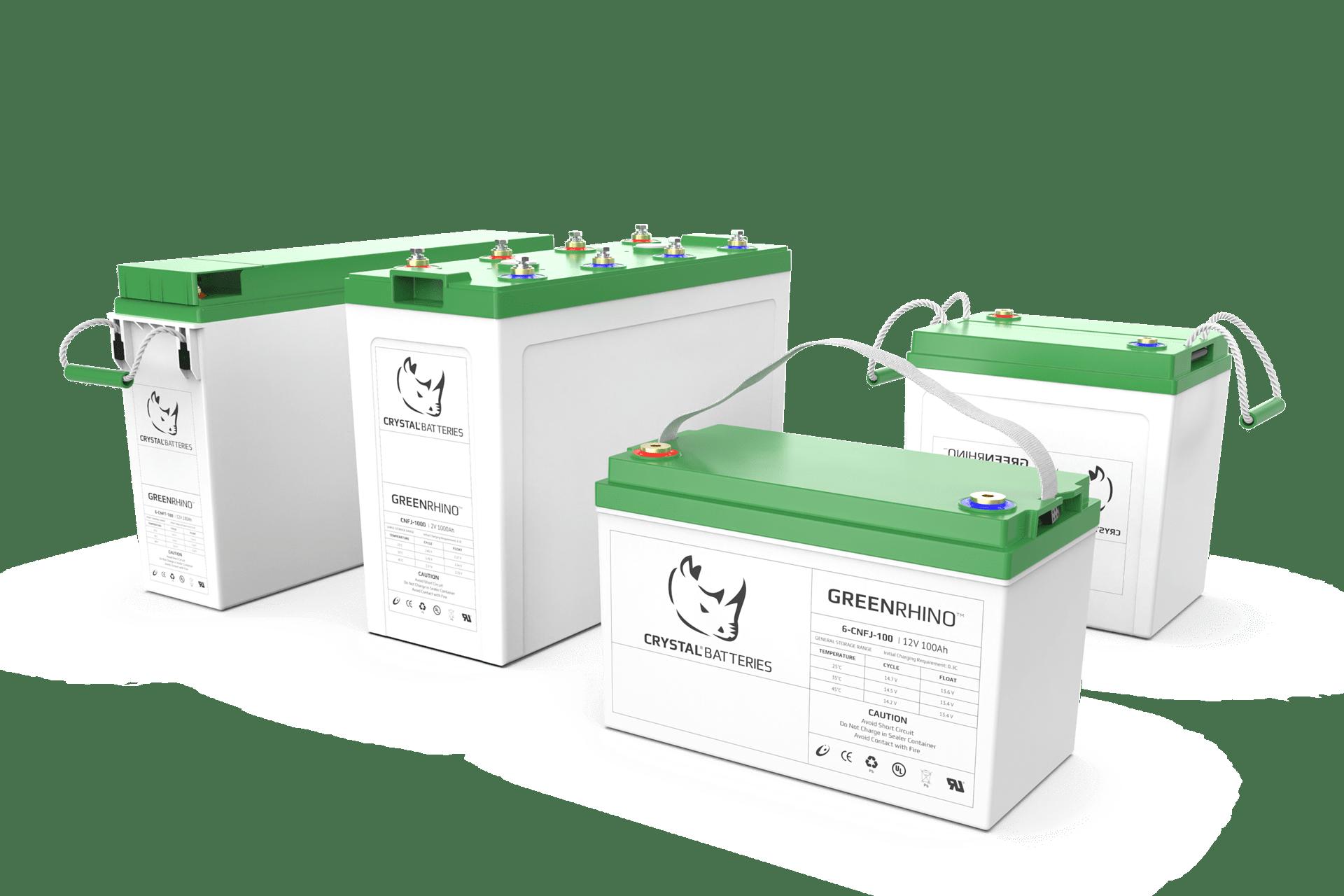 Crystal Batteries Green Rhino